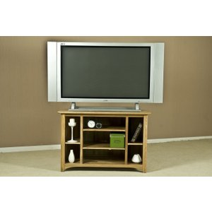 Fortune Woods Tuscany Oak Corner Tv Unit, Natural Lacquered