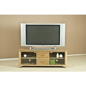 Fortune Woods Tuscany Oak Tv Unit - Large With Glass Door