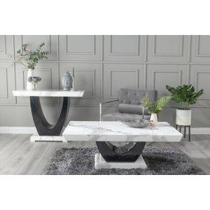 Urban Deco Madrid White Marble Coffee Table, white
