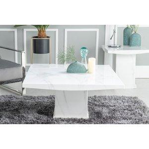 Urban Deco Turin White Marble Coffee Table, White