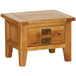 Besp Oak Vancouver Petite Oak 1 Drawer Storage Small Coffee Table