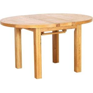 Vancouver Petite Oak 110cm - 140cm Round Extending Dining Table - Besp Oak