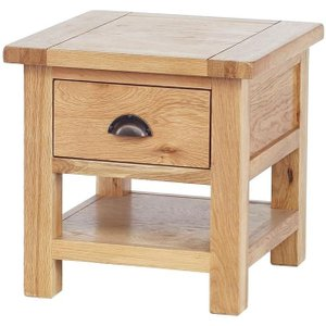 Besp Oak Vancouver Select Oak 1 Drawer Occasional Table