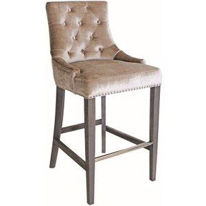 Vida Living Belvedere Knockerback Bar Chair - Champagne Velvet, Champagne
