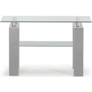 Vida Living Calico Console Table - Glass And Grey