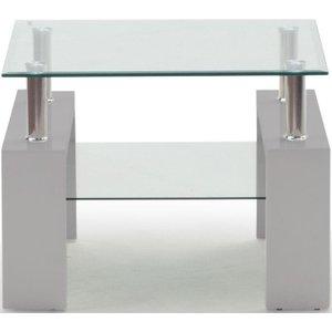 Vida Living Calico End Table - Glass And Grey, Grey