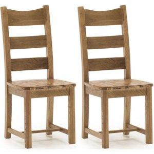 Vida Living Edmonton Oak Dining Chair (pair), Natural