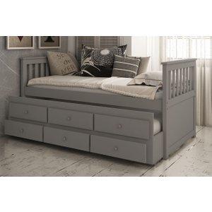 Vida Living Flos Grey 3ft Single Day Bed, Grey