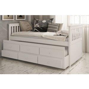 Vida Living Flos White 3ft Single Day Bed, White