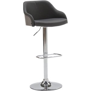 Vida Living Fossil Charcoal Faux Leather Bar Chair With Gas Lift, Charcoal