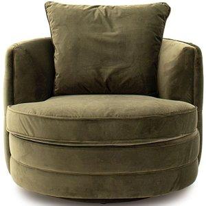 Vida Living Jools Olive Velvet Swivel Chair, Olive