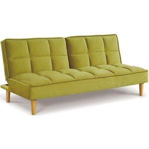 Vida Living Lokken Green Velvet Sofa Bed, Green