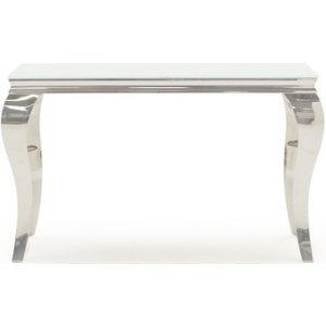 Vida Living Louis Console Table - Glass And Chrome