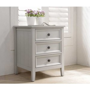 Vida Living Mila Clay Painted Bedside Cabinet, Clay Painted
