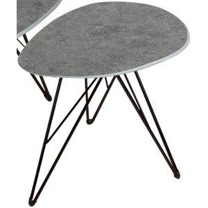 Vida Living Otto Grey Concrete End Table, Grey Concrete
