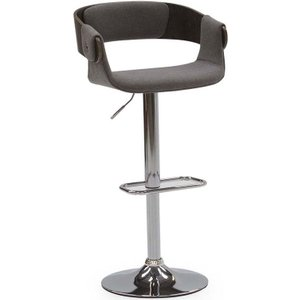 Vida Living Rita Grey Fabric Bar Chair With Gas Lift, Grey