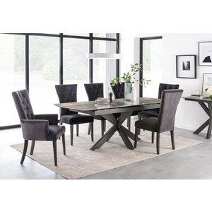 Vida Living Valerius 170cm-220cm Grey Extending Dining Table, Grey