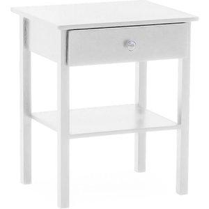 Vida Living Willow White Bedside Table, White