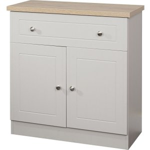 Welcome Furniture Vienna 2 Door 1 Drawer Narrow Sideboard - Kaschmir Ash And Bordeaux Oak