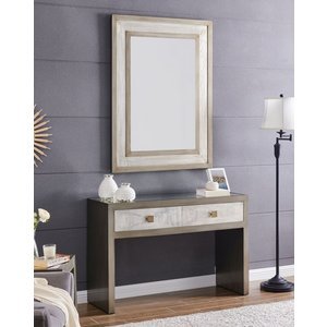 Glimmer Furniture Waco Glass Top Console Table With Mirror