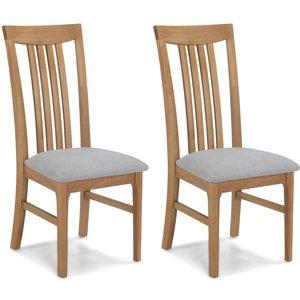 Hermitage Furniture Wadsworth Oak Dining Chair (pair) Sk30n