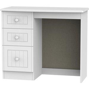 Welcome Furniture Warwick White Single Pedestal Dressing Table, White
