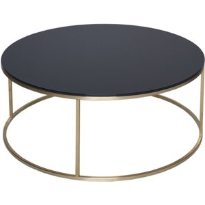 Space London Westminster Black Glass And Brass Round Coffee Table