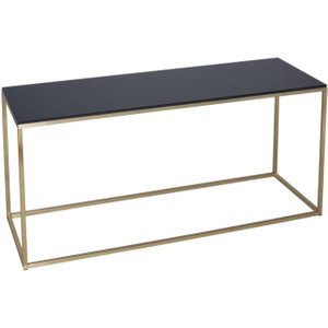 Space London Westminster Black Glass Tv Stand With Brass Base, Black Glass and Brass Brushed