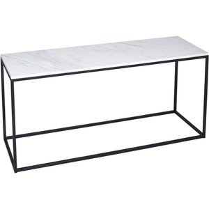 Space London Westminster White Marble And Black Tv Stand, White Marble and Black Matt Powder Coat