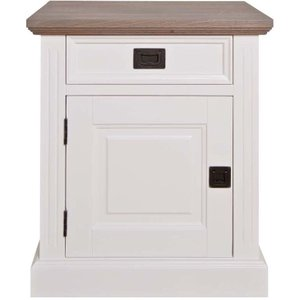 Richmond Interiors Westwood Oak And Painted 1 Left Door 1 Drawer Bedside Cabinet
