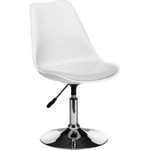 Premier Housewares White Bar Chair - Faux Leather And Chrome, White