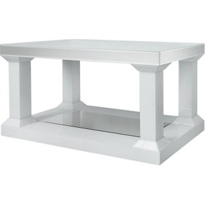 Deco Home White Montague Mirrored Coffee Table