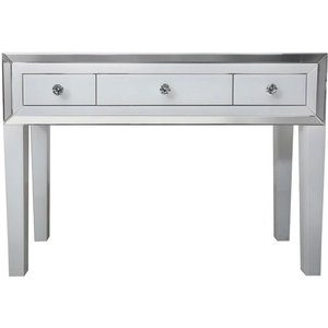 Deco Home White Montague Mirrored Dressing Table, White and Mirrored