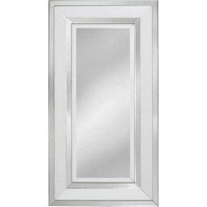 Deco Home White Montague Rectangular Wall Mirror - 143cm X 76cm, White