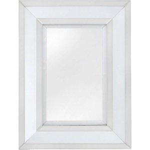 Deco Home White Montague Rectangular Wall Mirror - 76cm X 102cm, White