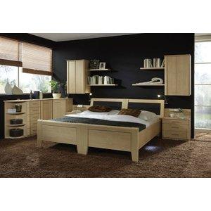 Wiemann Uk Wiemann Luxor 3+4 48cm Bedside Height 4ft 6in Double Bed In Golden Maple With Bedding Box