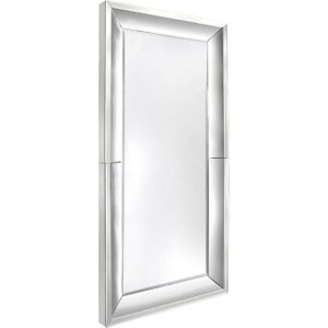 Deco Home Xl Clear Frame Rectangular Wall Mirror - 100cm X 200cm