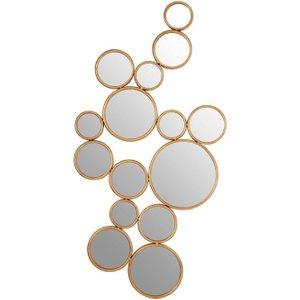 Premier Housewares Zariah Gold Metal Wall Mirror - 97cm X 51cm, Gold
