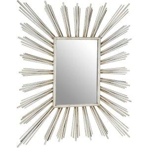 Premier Housewares Zariah Silver Metal Wall Mirror - 80cm X 94cm, Silver