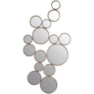 Premier Housewares Zariah Silver Metal Wall Mirror - 97cm X 51cm, Silver