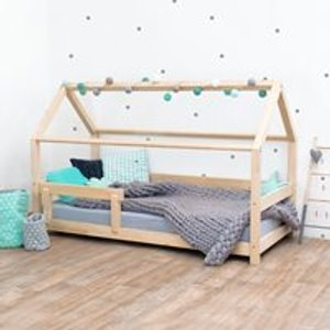 Benlemi Tery House Bed With Guard Rail - Natural 6253/pri Beds