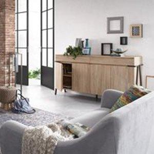 La Forma Disset Acacia Wood Sideboard Di001m46 Storage