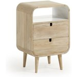 La Forma Gerald Mango Wood Bedside Table With 2 Drawers Ge001m33 Tables