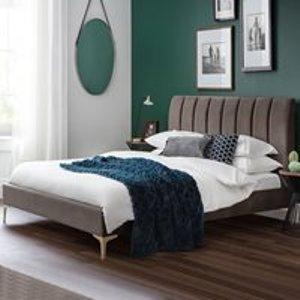 Julian Bowen Deco Scalloped Velvet Bed - Double Dec001 Beds