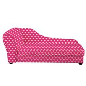 Churchfield Kids Chaise Longue In Pink Heart Design Childrens Chaise Longue Chairs