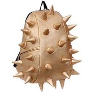 Madpax Metallic Spike Backpack In Jackpot Gold Metallic Spike Jackpot Gold Half Storage