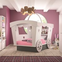 Mathy By Bols Carriage Bed With Storage Drawers - Mathy Coral Rou Lit 120f Rou Socle Coral Beds