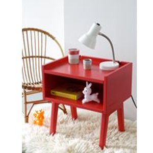 Mathy By Bols Kids Bedside Table In Madavin Design - Mathy Thunderstorm Grey Madavin Chevet Thunderstorm Grey Tables