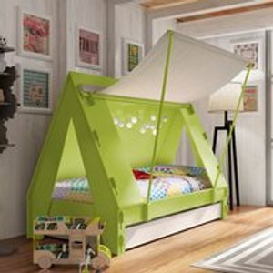 Mathy By Bols Kids Tent Cabin Bed With Trundle Drawer - Mathy Atlantic Blue Tenlit90f Pa90bf So90f Tl90fmel Atlantic Blue Beds