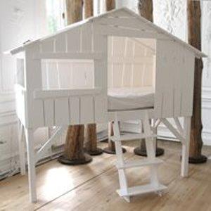 Mathy By Bols Treehouse Single Cabin Bed - Mathy Powder Blue Cab Lit 90f Mdf Powder Blue Beds